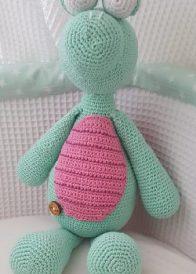 Mintgroen roze schildpad